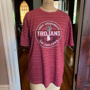 Troy University Trojans T-shirt Large EUC